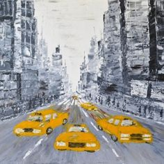 Toile de Michael Edery, New York cab