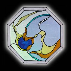 stainglass windows | Contemporary Stained Glass Window - Abstract Stained Glass Windows by ...