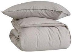 Made lin/bomull sengesett beige Bed Pillows, Pillow Cases, Beige, Home, Pillows, House, Homes, Ash Beige, Beige Colour