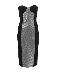 Strapless Quilted Lame Sheath Dress | MICHAEL KORS