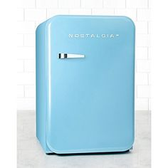 Nostalgia Retro Series Foot Refrigerator with Freezer, Blue Online Kitchen Store, Retro Refrigerator, Nostalgia, Paint Your House, Mid Century Modern Kitchen, Cubic Foot, Fireplace Accessories, Cool Kitchens, Modern Kitchens