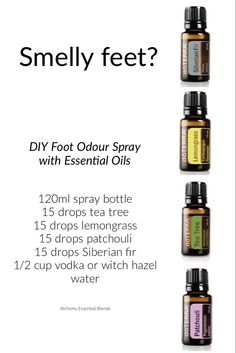 Combine all of the above ingredients and enough water to fill a glass or metal spray bottle Shake before each use After wearing spray inside shoes and allow to air. Essential Oil Spray, Essential Oils Guide, Essential Oil Diffuser Blends, Esential Oils, Doterra Essential Oils, Frankincense Essential Oil Uses, Aromatherapy Oils, Belleza Natural, Inside Shoes