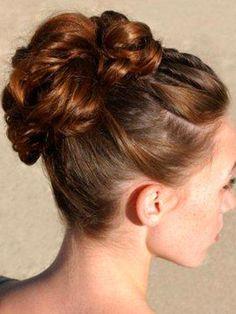 Image Detail for - ... Wedding Hairstyles : High Bun Updos | Updos for medium length hair