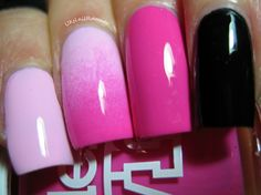 Models Own Hypergel Pink Veneer and Cerise Shine  http://uknailrunner.blogspot.co.uk/2014/02/valentines-mani-including-reviews-of.html