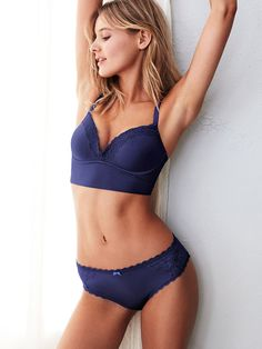 Serious oomph without the underwires. Sorry, a magician never reveals her secrets. ;) | Victoria's Secret The Long Line Lounge Bra