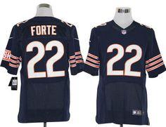 Nike Bears #22 Matt Forte Dark Blue Team Color Mens NFL Elite Jersey