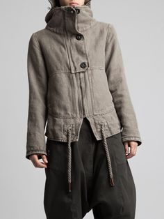 THICK RUSTIC COTTON JACKET WITH FLELE LINING - JACKETS, JUMPSUITS, DRESSES, TROUSERS, SKIRTS, JERSEY, KNITWEAR, ACCESORIES - Woman - Syngman Cucala & Lurdes Bergada - Shop Online