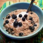 Pressure Cooker Blueberries Cream Steel Cut Oats {Instant Pot} | This Old Gal
