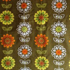 60's/70's pop floral fabric