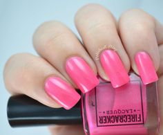 Flamingo Fanfare, swatched by Polished Lifting