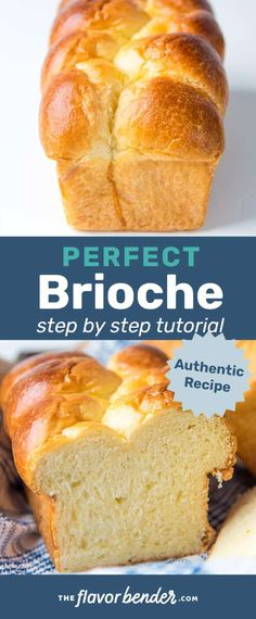 This Brioche bread is ultra soft, rich, and buttery! It's not only delicious to eat, but easy to make too! Learn how to with my step by step recipe. Recipes step by step Brioche Bread Recipe - The Flavor Bender Receta Pan Brioche, Best Bread Recipe, What Is Brioche Bread, Delicious Bread Recipe, Bread Machine Brioche Recipe, Buttery Bread Recipe, Brioche Loaf, Bagel Pizza, Pancake