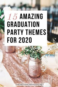 Whether you're a college or high school grad, you'll love these graduation party themes!