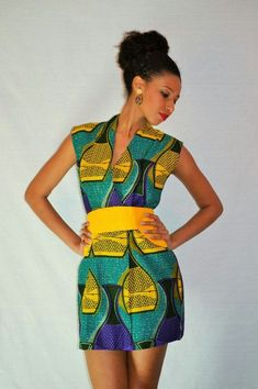 Gorgous African Print Dress Ohemaa by MalaikaDesignsBerlin on Etsy, African Inspired Clothing, African Print Clothing, African Print Dresses, African Print Fashion, Africa Fashion, African Dress, Fashion Prints, Ethnic Fashion, African Prints