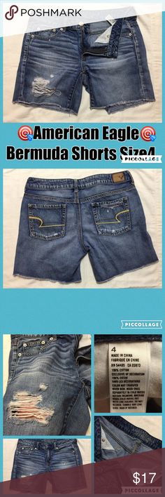 """Pre-💙'd w/ lots of life left America Eagle Short Pre-💙'd w/ lots of life left """"America Eagle"""" Bermuda Shorts Size 4💙 In great condition💁🏻 American Eagle Outfitters Shorts Bermudas"""