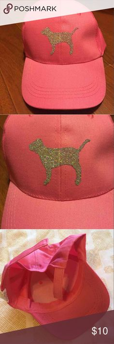 New Pink Inspired Bling Dog Hat New PINK Dog Hat Bling  Handmade. Super cute.   Has Velcro back so it can fit any sized head Accessories Hats