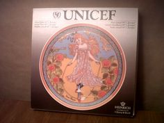 In 1978, as part of the International Year of the Child celebration, Heinrich (Villeroy & Boch) started issue of a series of plates showing children of different cultures. This is number 1 in the series, and shows a child from Europe. This one was produced in 1978.    Mint condition    Here is an identical one from ebay as of this posting.  His/her ridiculously high price may have come from the time spent describing the item:      UNICEF Children of the World Collector Plate 1 Europe ...