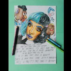 Potato Heads, Melanie Martinez, Cry Baby, After School, Pretty Face, Fan Art, Portrait, Drawings, Artwork