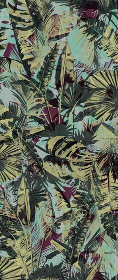 Paul Smith - Acid Jungle Print #tropical #surfacedesign: