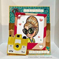 Happy Scrapper using the #digi stamp Bee Hive Mae from Some Odd Girl. #retrostyle #digitalstamp www.someoddgirl.com