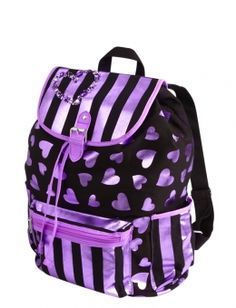 Large Metallic Hearts Rucksack