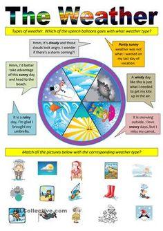 The Weather worksheet - Free #ESL printable worksheets made by teachers