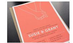 ピンク&ポップで可愛い招待状のデザイン | Weddingcard.jp