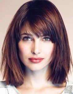 9. #Shoulder Length - 26 #Hairstyles to Show off Your Square Face #Beautifully ... → Hair #Faces