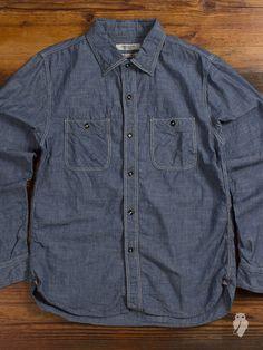 Chambray Button Up Shirt in Indigo