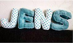 #DIY Made by Helga - Naaien en meer....: Kraamcadeau stoffen letters! #stoffenletters #fabricletters #naaien #sewing