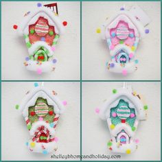 Candy Christmas Candy House Ornaments  shelley b home and holiday