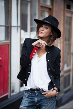 streetstyle fedora women - Google Search
