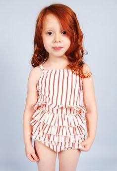 85d1f0137 Mini Rodini Spring Summer 2013 SS13 stripe stripes playsuit jumpsuit  beachwear Red Swimsuit, Kids Wear