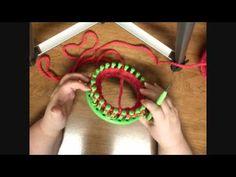 Sock Kntting: Creating a Short-Row Heel on a Knitting Loom - YouTube
