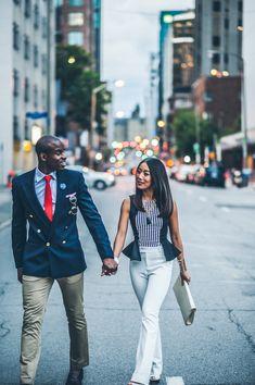 ottawa fashion, fashion photography, high fashion, black and asian couple, corporate wear, urban photography, le chateau pants, interracial couple