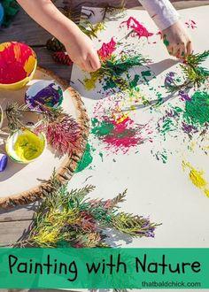 Best nature art activities for kids Ideas Toddler Art, Toddler Crafts, Preschool Activities, Crafts For Kids, Kids Nature Crafts, Ocean Crafts, Quick Crafts, Summer Crafts, Forest School Activities