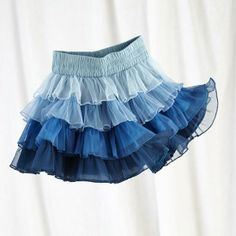 The Land of Nod   Girl's Tutu: Kid's Blue Ombre Tutu Skirt in Imaginary Play