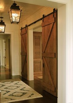 People are using barn doors inside and achieving amazing results, and we are sure these might work for your home too! See more like this at glamshelf.com