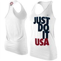 BACK IN STOCK!! Nike Team USA London 2012 Womens Just Do It Racerback Tank Top