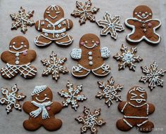 Gingerbread Cookies - Piparkakkuja - making them soon! [Today my students prepared first doughs this year. Gingerbread Decorations, Gingerbread Man Cookies, Christmas Gingerbread, Gingerbread Houses, Decorating Gingerbread Men, Snowflake Cookies, Holiday Cookies, Holiday Treats, Ginger Cookies