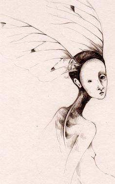 Sycamore Fairy Pencil Drawing by ThePaleRook on Etsy
