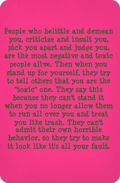 Narcissists are the most dishonest people you'll ever met. They'll provoke you and verbally attack you. When you react to their abuse and defend yourself, they'll turn either rageful or play the victim in front of others to make you look bad. Life Quotes Love, Quotes To Live By, Me Quotes, Girl Quotes, Quote Life, Quotable Quotes, Family Quotes, Trauma, Narcissistic Personality Disorder