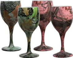 Rivers Edge Products Camo Wine Glasses 2Green2Pink 4Pack ** Find out more about the great product at the image link.