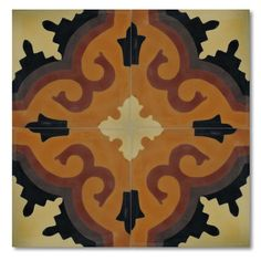 """Moroccan Mosaic Argana 8"""" x 8"""" Marble Hand-Painted Tile in Multi-Color"""