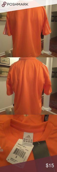 💰CLEARANCE‼️Adidas Orange Jersey NWT Adidas jersey , Orange & white ,climaLite ,nwt Adidas Shirts & Tops