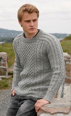 Super Knitting Sweter For Men Free Pattern Drops Design Ideas Aran Knitting Patterns, Jumper Patterns, Free Knitting, Crochet Patterns, Mens Cable Knit Sweater, Men Sweater, Mens Knit Sweater Pattern, Cardigan Pattern, Drops Design