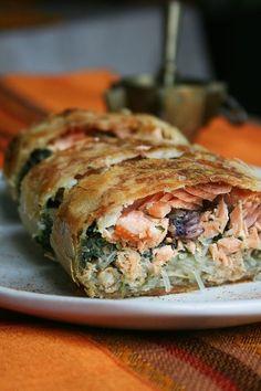 Salmon and spinach pastilla (log-shaped) - culinary passion by Minouchka