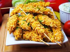 Szefowa w swojej kuchni. ;-): Pieczone nuggetsy na patyku Tandoori Chicken, Chicken Wings, Grilling, Meat, Ethnic Recipes, Impreza, Food, Crickets, Essen