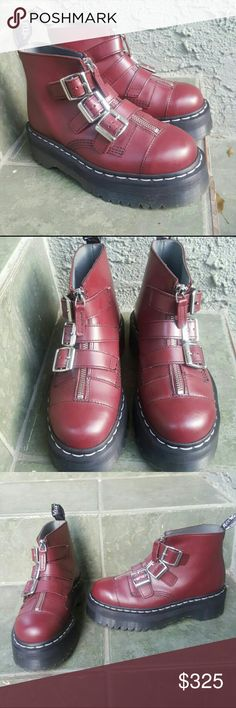 a91a4987595 Rare Aggy Dr.Martens Like New-Only tried on Cherry Red RARE Dr.