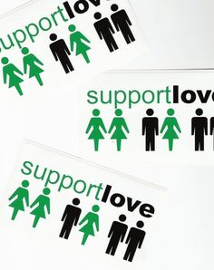 Support Love Bumper Sticker. $3.00, via Etsy.