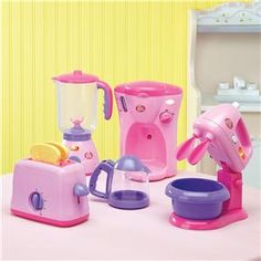 Pretty Pink Pretend-Play Appliances from Lillian Vernon